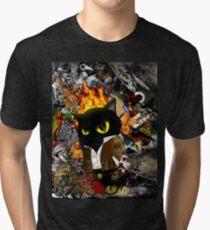 Cat Behemoth (Master & Margarita) Tri-blend T-Shirt