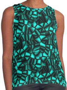 Geometric Turquoise Shapes Design Contrast Tank