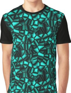 Geometric Turquoise Shapes Design Graphic T-Shirt