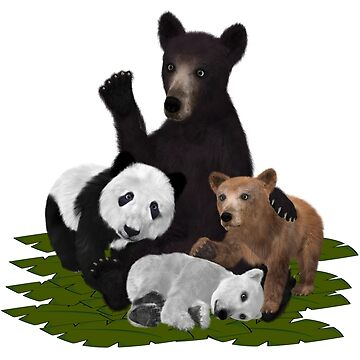 Patchwork Bear Family by NicoleK-design