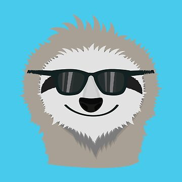 Sloth with sunglasses by ilovecotton