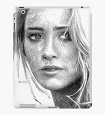 Female Portrait Sketch Drawing 1508 iPad Case/Skin