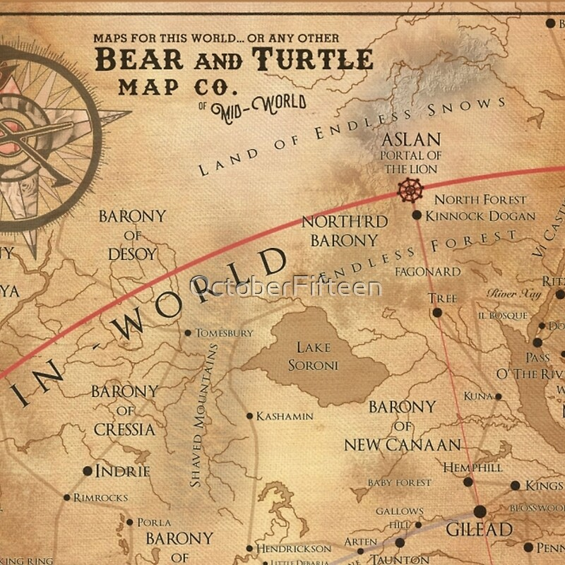 The Dark Tower  MidWorld Map Laptop Sleeves by OctoberFifteen