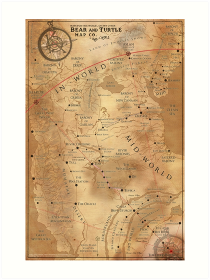 The Dark Tower - Mid-World Map\