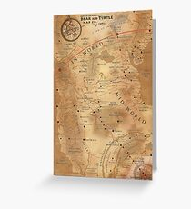 The Dark Tower - Mid-World Map Greeting Card