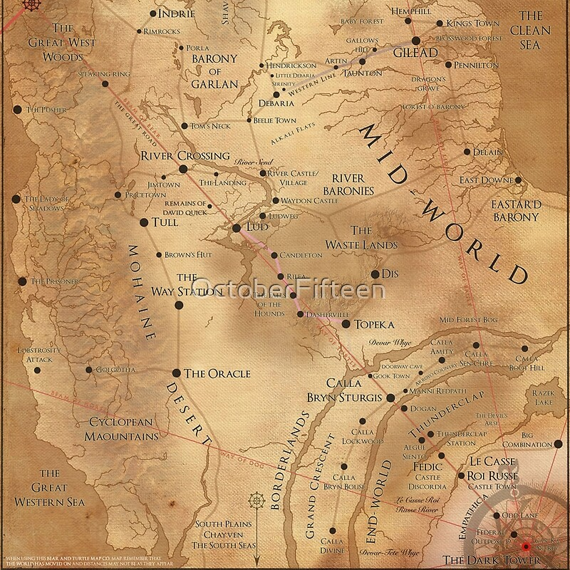 This is apparently a scarf. A map of Mid-World. : TheDarkTower