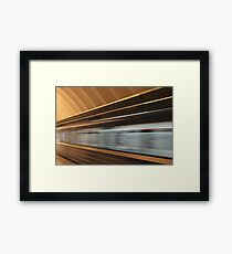 moving fast train Framed Print