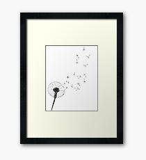Schwarzweiss-Drucklöwenzahndruck-skandinavische unbedeutende Dekorwandkunst-Schwarzlöwenzahnauszugswandkunst-nordischer Designlöwenzahn Gerahmtes Wandbild