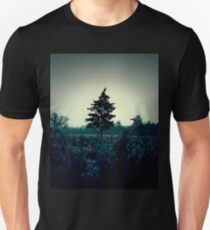 Atmospheric and dark image of the field and trees T-Shirt