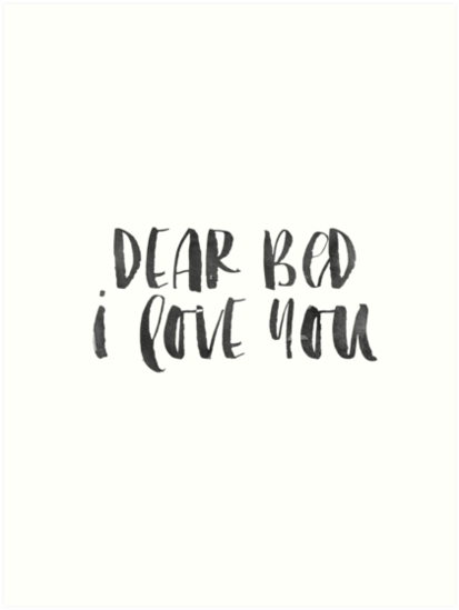 Bedroom Decor Dear Bed I Love You Printable Art Namastu0027ay In Bed Dorm Decor