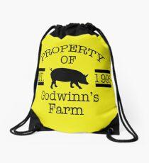 Property of Godwinn's Farm Drawstring Bag