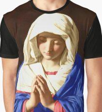 The Virgin In Prayer Graphic T-Shirt