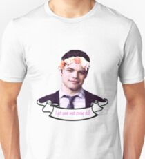 Winn Schott Flower Crown Banner Unisex T-Shirt