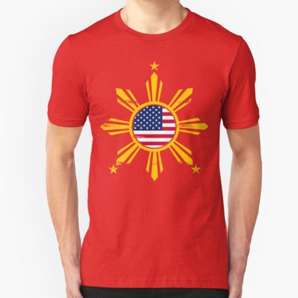Filipino American Design Slim Fit T-Shirt