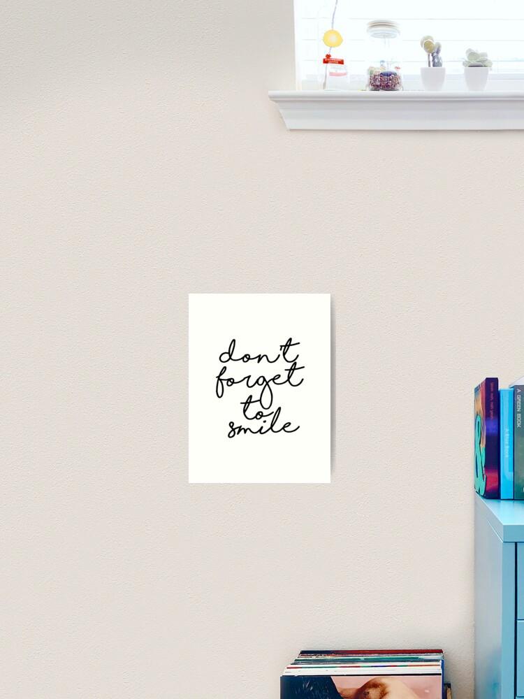 Inspirierende Kunst nicht vergessen, druckbare Zitat Kinderzimmer Dekor  Home Dekor Kalligraphie typografische Kunst Wand Kunst zum ausdrucken ...