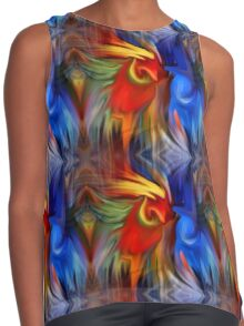 Abstract Red Blue Yellow Green Design Contrast Tank