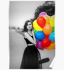 dodie clark rainbow balloons  Poster