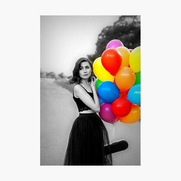 dodie clark rainbow balloons  Photographic Print