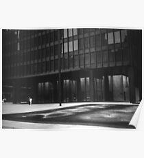 Seagram Plaza (b&w) Poster