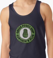Green Potato Chip Survivor's Club Tank Top