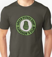 Green Potato Chip Survivor's Club Slim Fit T-Shirt