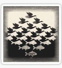 Pegatina Cielo y agua I - Maurits Cornelis Escher