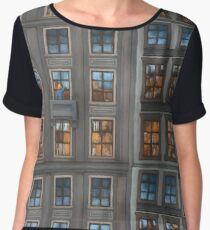 Mosaic of City Chiffon Top