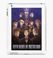 50 Years of Doctor Who iPad Case/Skin
