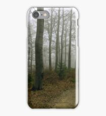 Forest in the fog. Freshwater swamp forest. Beskids, Poland iPhone Case/Skin