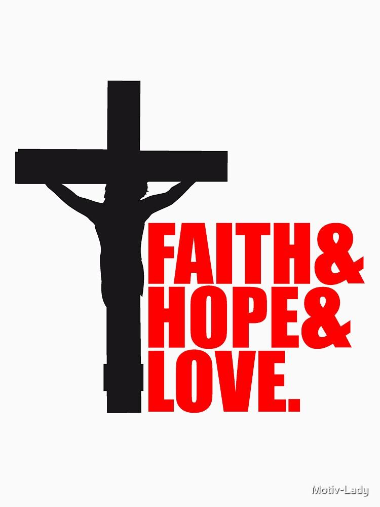 Faith Hope Love Love Hope Faith Dead Nailed Cross Symbol Team Crew