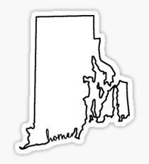 Rhode Island Home Outline Sticker