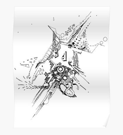 Along Those Lines - Pen & Ink Illustration Poster