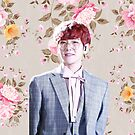 Floral Red Head Baekhyun by baekgie29