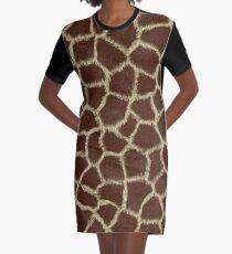 Giraffe Skin print Graphic T-Shirt Dress