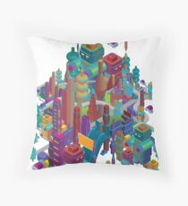 the color city Throw Pillow