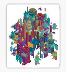 the color city Sticker