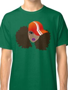 Black Woman With Natural Hair Afro Puffs Classic T-Shirt