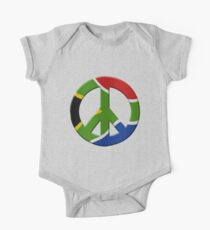 Peace sign and South African flag Kids Clothes