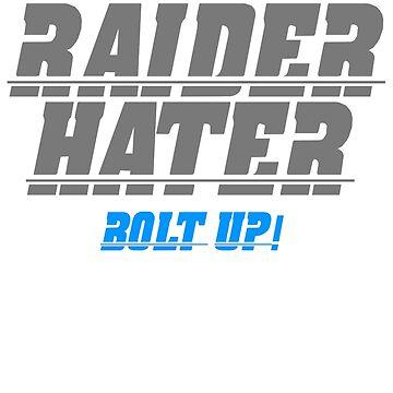 RAIDER HATER SILVER - BOLT UP! by joebugdud