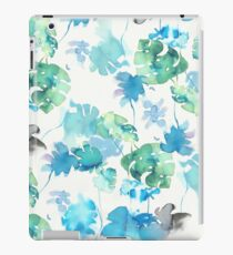 water color tropical blue iPad Case/Skin