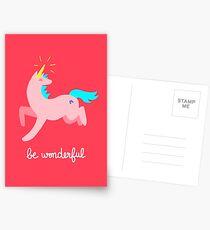 Wunderbares Einhorn Postkarten