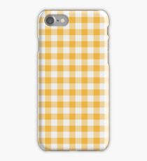 Yellow gingham iPhone Case/Skin