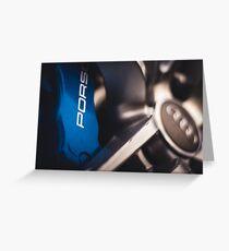 Porsche Big Brakes Behind Audi Wheel Greeting Card