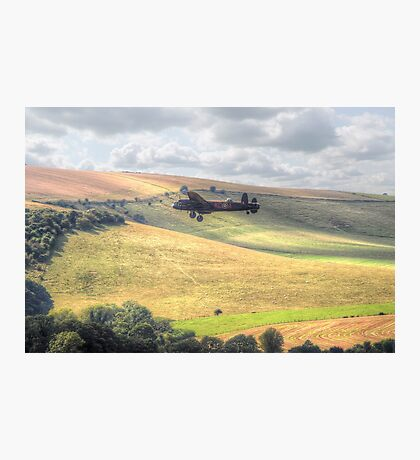 Thumper Flies Down The Coombes Valley - HDR Photographic Print