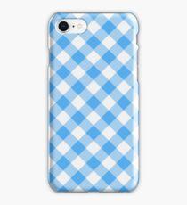 Blue Gingham iPhone Case/Skin
