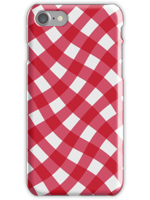 Wibbly wobbly red gingham by stuwdamdorp