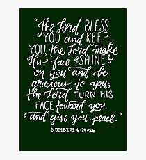 Numbers 6:24-26 Photographic Print