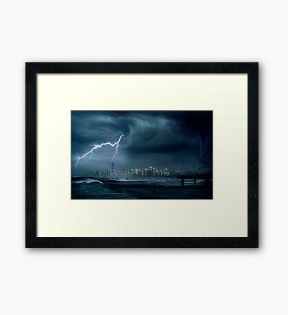 Gold Coast storm Framed Print