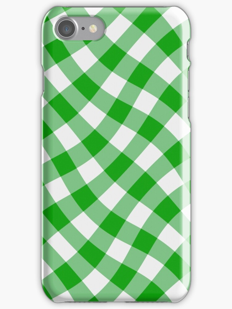 Wibbly wobbly green gingham by stuwdamdorp