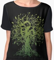 Meditate, Meditation, Spiritual Tree Yoga T-Shirt Women's Chiffon Top